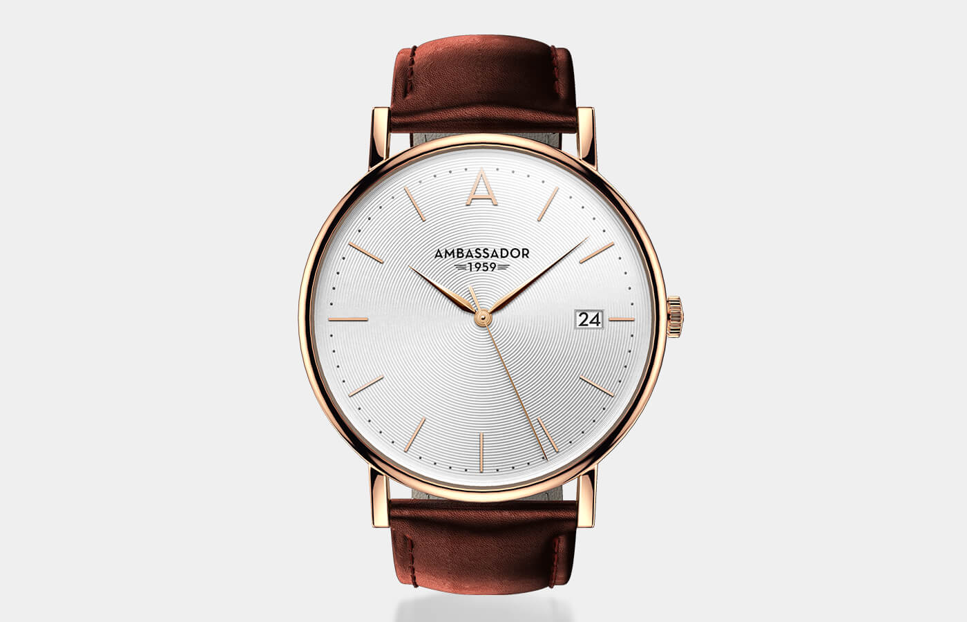 Mens Thin Gold Watch