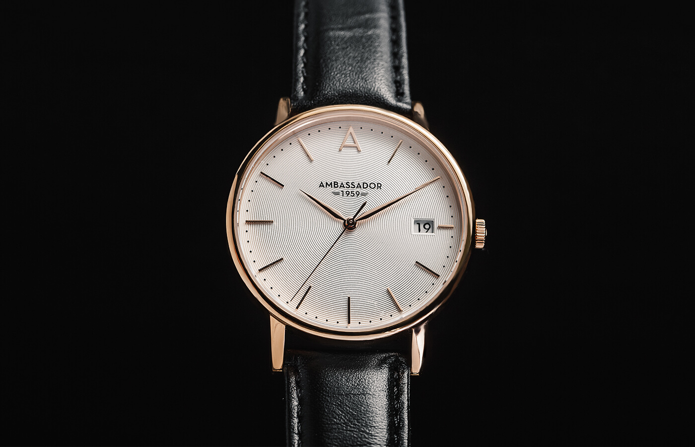 luxury gold black watch