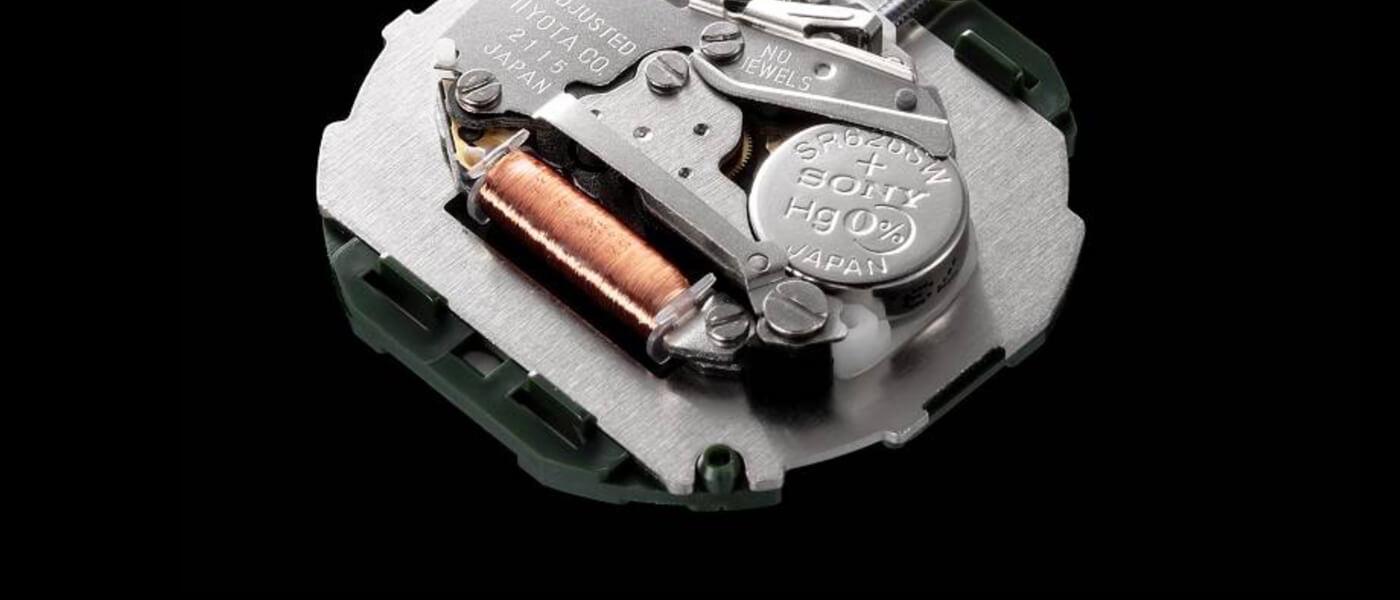 Different Parts in a Quartz Watch Movement